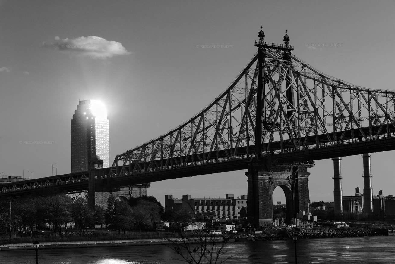 Queensboro bridge and Citicorp building Long Island